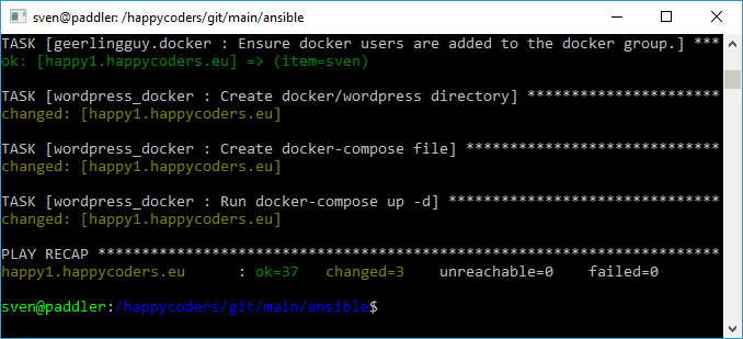 Installing MySQL and WordPress via Ansible
