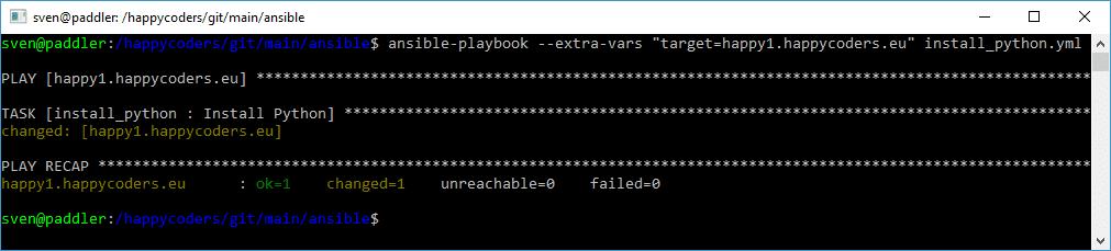 Installation von Python mit Ansible