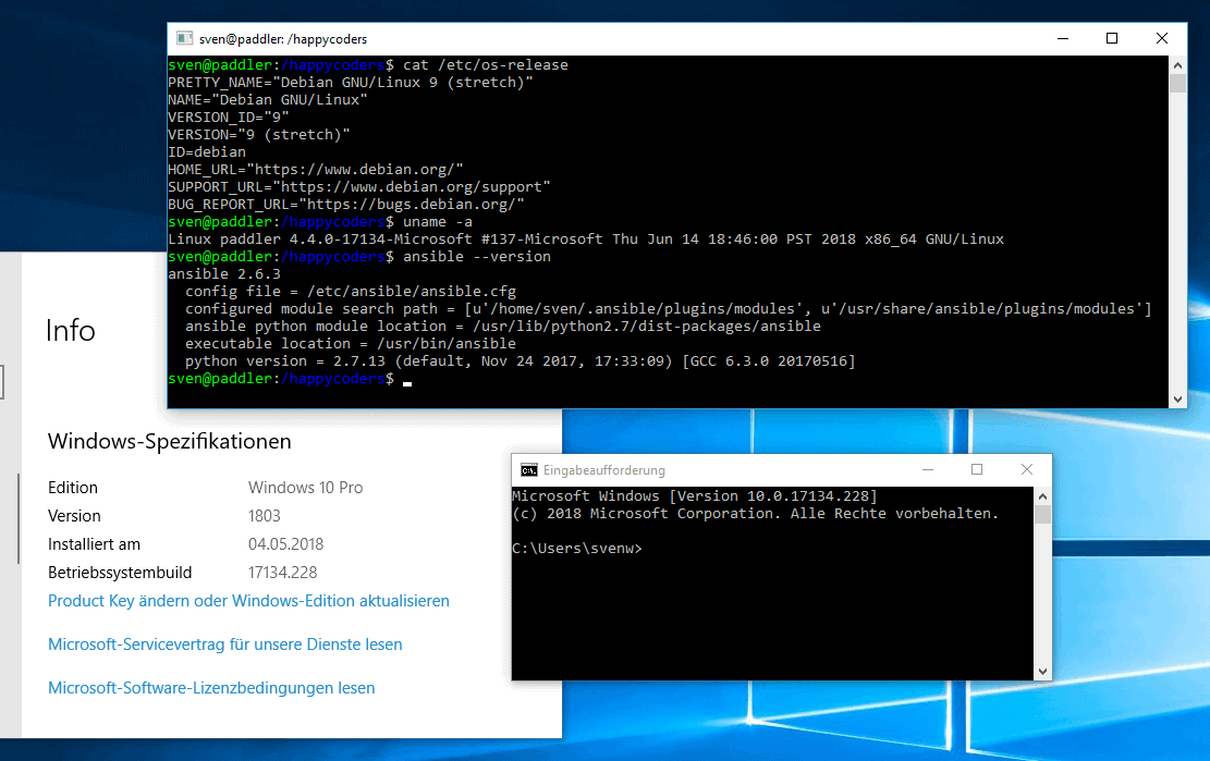 Ansible under Windows 10
