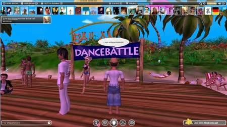 "Screenshot der 3D-Online-Community ""Bailamo"""