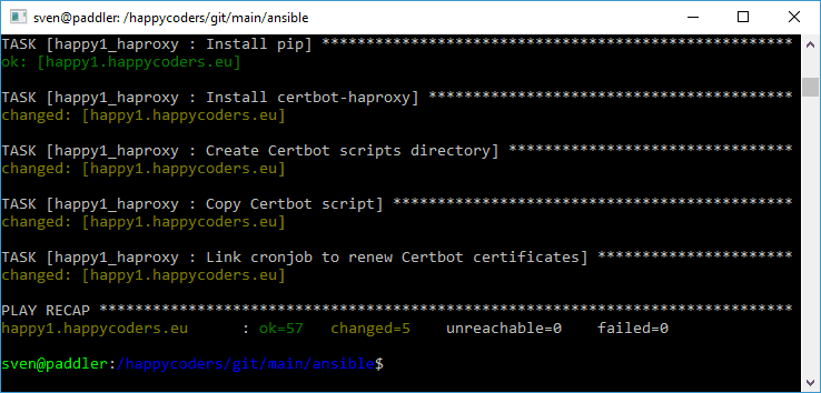 Installing the Certbot script with Ansible