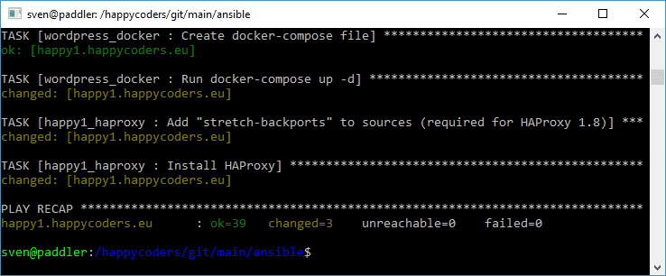 Installing HAProxy via Ansible