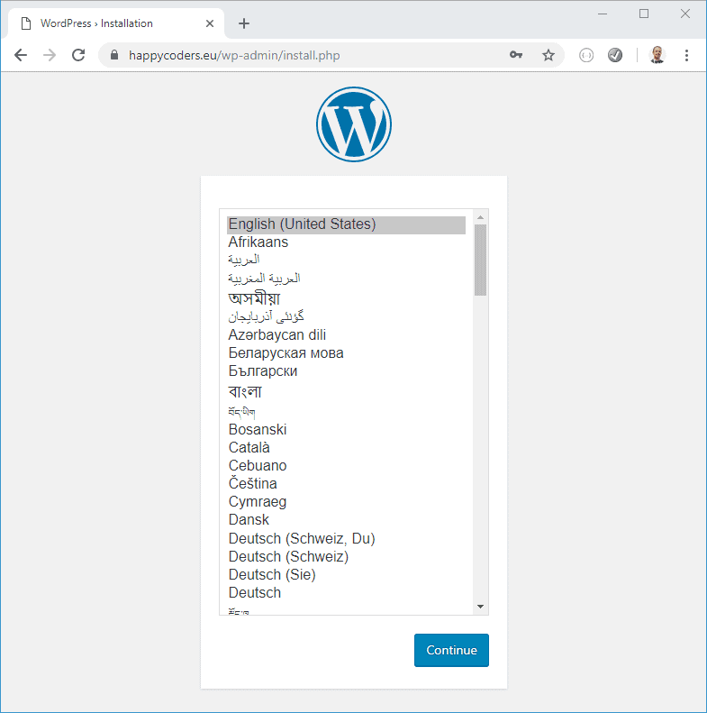 WordPress is accessible via HTTPS
