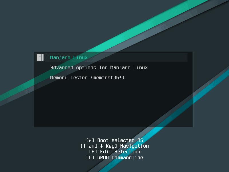 Manjaro GRUB bootloader