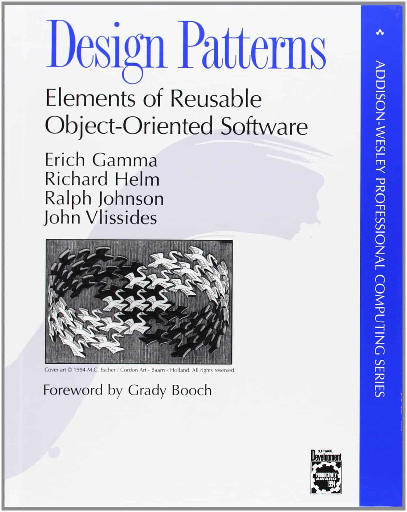 "Book cover ""Design Patterns - Elements of Reusable Object Oriented Software"""
