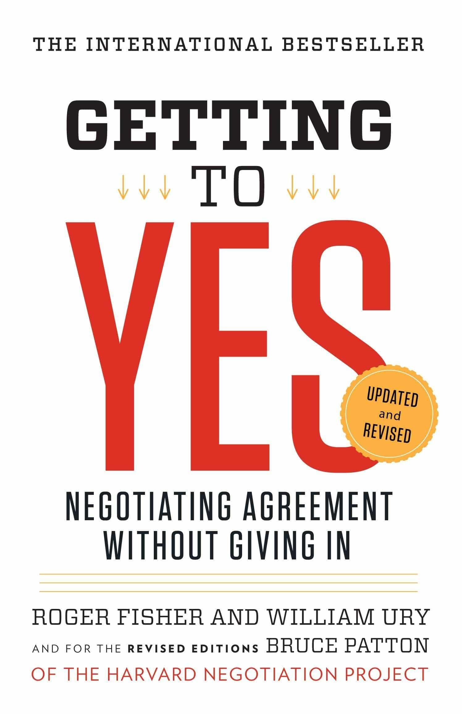 "Buchdeckel ""Getting to Yes - Negotiating Agreement Without Giving In"""