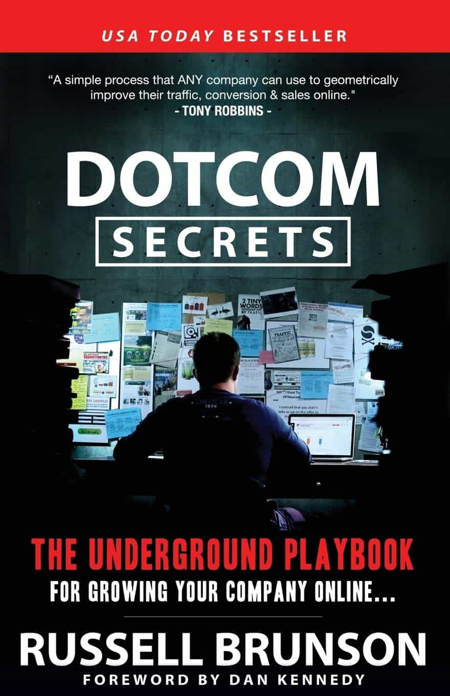 DotCom Secrets: The Underground Playbook for Growing Your Company Online - Buchdeckel