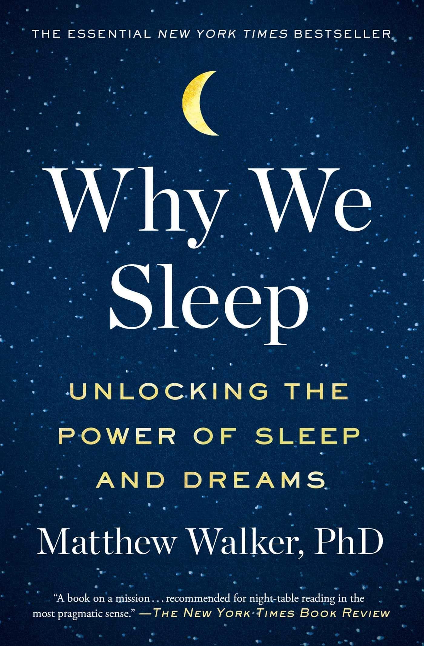 Why we sleep - Book cover
