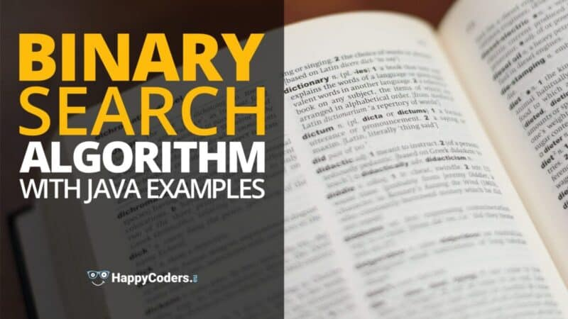 Binary search with Java examples
